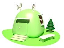 生态房子, 3D 图库摄影