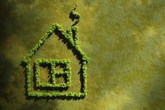 生态概念房子 免版税库存照片