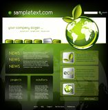 生态模板网站 图库摄影