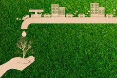 生态污染从环境的尾气烟概念文件裁减  免版税图库摄影