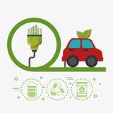生态汽车车象 向量例证