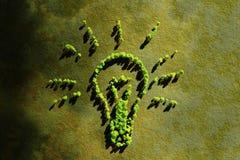 生态灯概念 免版税库存图片