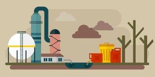 生态灾难污染化学制品环境 皇族释放例证