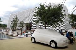 生态的菲亚特500 免版税库存图片