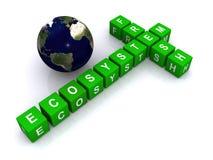 生态系新鲜全球 向量例证