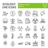 生态线象集合,eco标志汇集,传染媒介剪影,商标例证,能量标志线性图表 向量例证