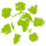 生态结构树世界 免版税库存图片