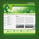 生态网站模板 免版税库存图片