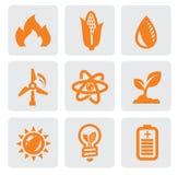 生态能源图标 免版税库存照片
