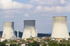 生态行业发电站上升暖流 库存照片
