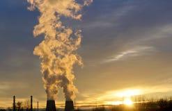 生态行业发电站上升暖流 库存图片