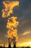 生态行业发电站上升暖流 免版税库存图片