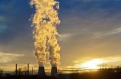 生态行业发电站上升暖流 免版税图库摄影