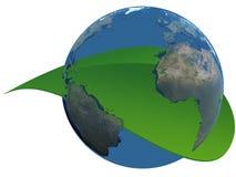 生态行星 向量例证