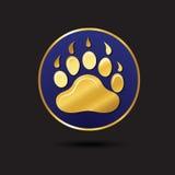 生态设计商标模板的动物脚印 免版税库存照片