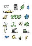 生态象被设置的传染媒介例证 免版税库存照片