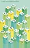 生态酒吧Infographics 图库摄影