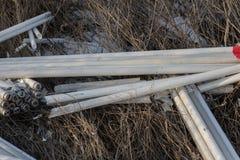 生态问题,灾害 萤光汞灯犯罪处置, E废物 危机生态学环境照片污染 生态罪行 图库摄影