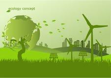 生态,荒地的环境概念地球 库存例证