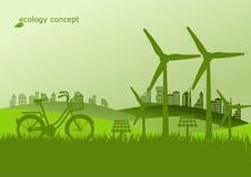 生态,荒地的环境概念地球 向量例证