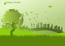 生态,荒地的环境概念地球 皇族释放例证