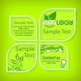 生态绿色横幅 免版税库存照片
