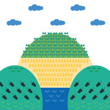 生态绿色海报 库存照片