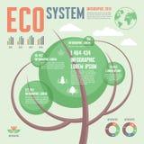 生态系统- Infographic概念-导航例证 向量例证