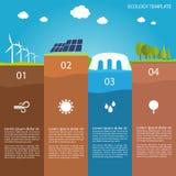 生态Infographic模板 向量例证