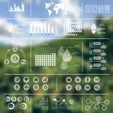 生态Infographics被弄脏的背景 免版税图库摄影