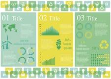 生态infographics 库存照片