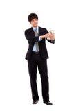 生意人个人计算机片剂 免版税图库摄影