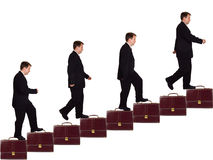生意人事业楼梯 库存照片