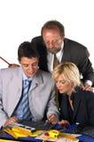 生意人他的合作伙伴 免版税库存图片