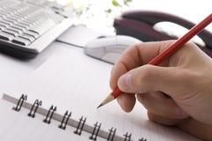 生意人会议附注采取 免版税库存图片