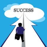生意人到达的成功 向量例证