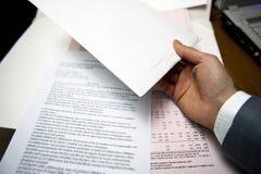 生意人办公室 免版税库存照片