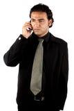 生意人印地安人电话 图库摄影