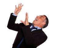 生意人友好西班牙尖叫 免版税库存照片