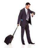 生意人台车袋子 免版税库存照片