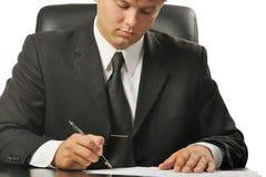 生意人合同签字 库存图片