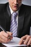 生意人合同签字 免版税库存照片