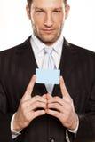 生意人和信用卡 免版税图库摄影