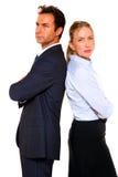 生意人和女实业家 免版税图库摄影