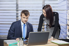 生意人和女实业家 库存图片