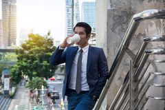 生意人咖啡喝 免版税图库摄影