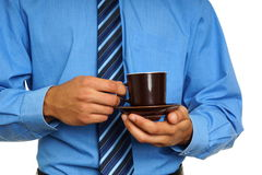 生意人咖啡杯暂挂 图库摄影