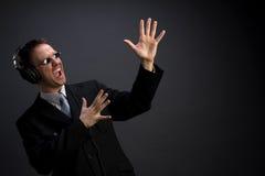 生意人唱歌 免版税库存图片