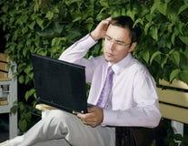 生意人困惑了工作 免版税库存图片