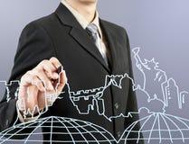 生意人图画梦想现有量旅行 免版税图库摄影